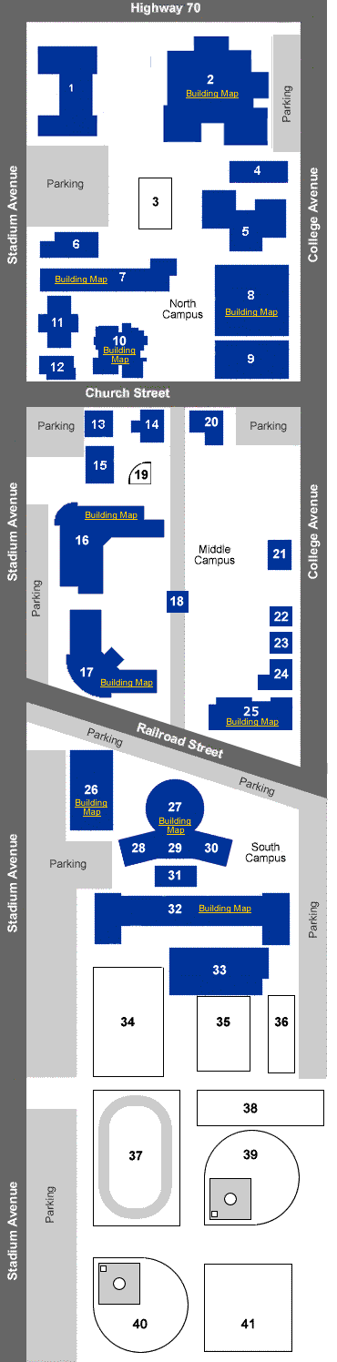 Map Of Eastern Arizona.Thatcher Campus Map