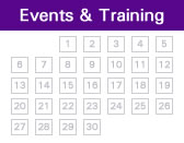Click to see training sessions and events