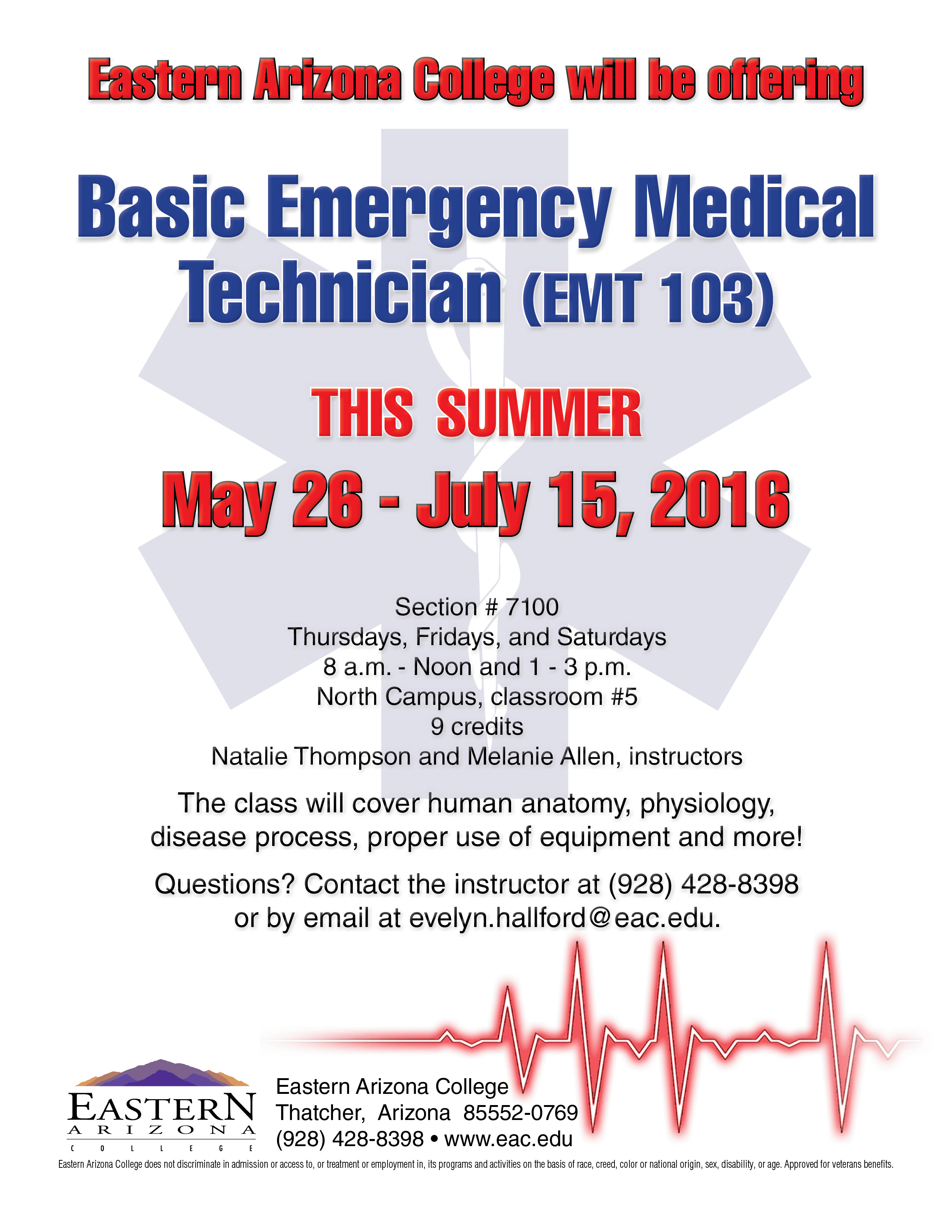 News Releases Details - EAC offering EMT summer class