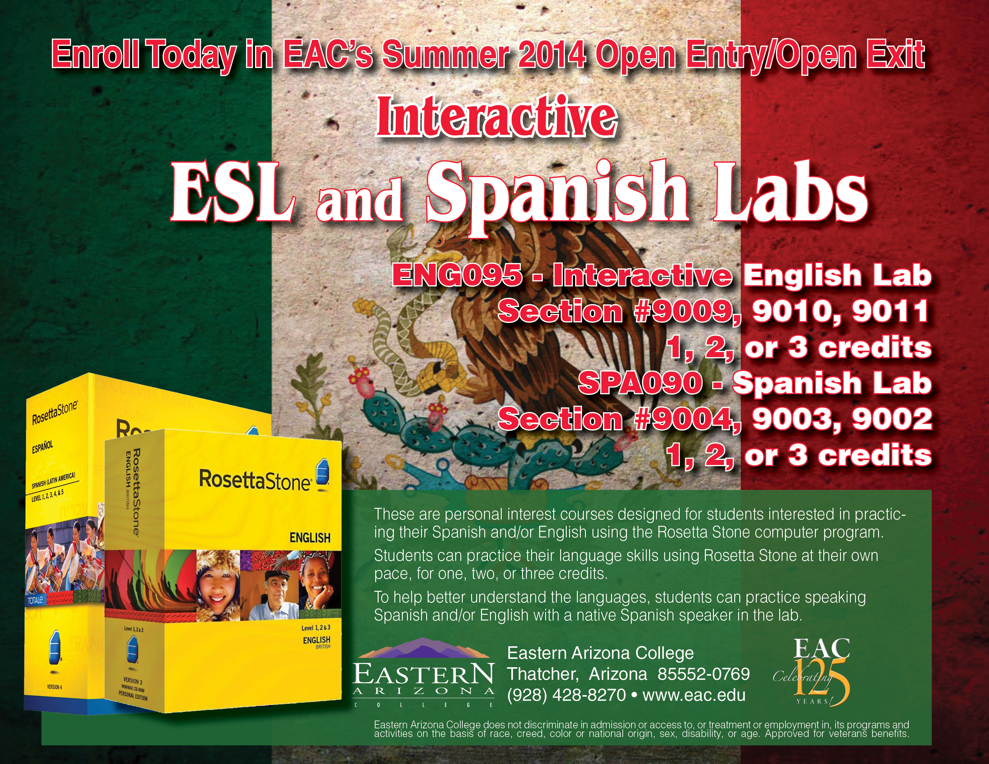 News Releases Details - EAC offering ESL and Spanish classes